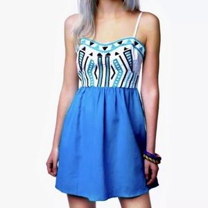Urban Outfitters Staring At Stars Linen Dress